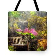 Bench - Tranquility II Tote Bag by Mike Savad