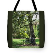Bench Under The Magnolia Tree Tote Bag
