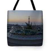 Benches At Parc Guell Tote Bag
