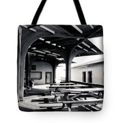 Benches At The Beach Tote Bag