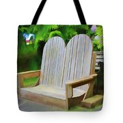 Benches Tote Bag