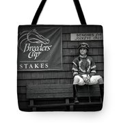 Benches For Jockeys Only Tote Bag