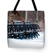Benches In The Snow Tote Bag
