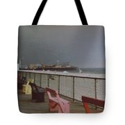 Benches Of Seaside Heights Nj Tote Bag by Joann Renner