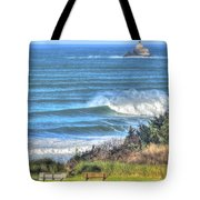Benches On The Beach Tote Bag