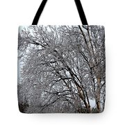 Bending With Ice Tote Bag