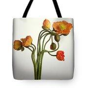 Bendy Poppies Tote Bag