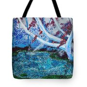 Beneath The Red Tree Tote Bag