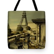 Beneath The Tower   Number 2 Tote Bag by Diane Strain
