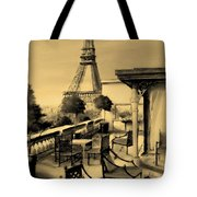 Beneath The Tower   Number 6 Tote Bag by Diane Strain