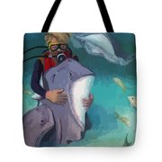 Benevolent Creatures At Stingray City Tote Bag