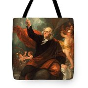 Benjamin Franklin Drawing Electricity From The Sky Tote Bag