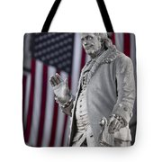 Benjamin Franklin Tote Bag by Eduard Moldoveanu