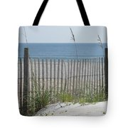 Bent Beach Fence Tote Bag