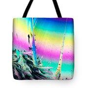 Benzoic Acid Microcrystals Coloful Abstract Art Tote Bag