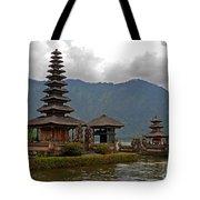Beratan Island Temple Tote Bag