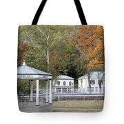 Berkeley Springs Bandstand In West Virginia Tote Bag