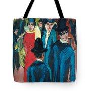 Berlin Street Scene Tote Bag by Ernst Ludwig Kirchner