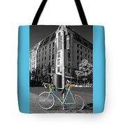 Berlin Street View With Bianchi Bike Tote Bag by Ben and Raisa Gertsberg