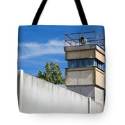Berlin Wall Memorial A Watchtower In The Inner Area Tote Bag