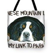 Bernese Mountain Dog Paradise Tote Bag