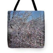 Berries In Ice Tote Bag