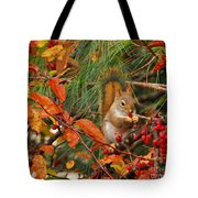 Berry Loving Squirrel Tote Bag