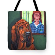 Bloodhound - Bervil And Blue Tote Bag