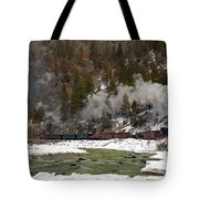 Beside The Animas River Tote Bag
