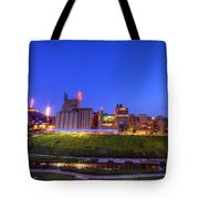 Best Minneapolis Skyline At Night Blue Hour Tote Bag