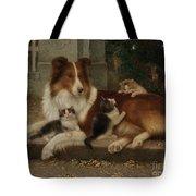 Best Of Friends Tote Bag by Wilhelm Schwar