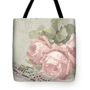 Best Wishes Vintage Roses Card  Tote Bag