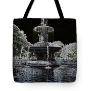 Bethesda Fountain Abstract Tote Bag