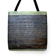 Bethesda Fountain And Terrace Tote Bag