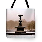 Bethesda Fountain Snow Tote Bag
