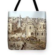Bethlehem Manger Square 1900 Tote Bag