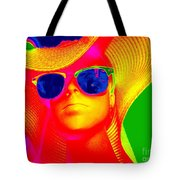 Betsy In Blue Sunglasses Tote Bag