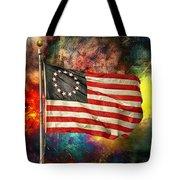 Betsy Ross Flag Tote Bag by Steven Michael