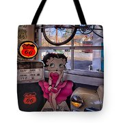 Betty Boop At Albuquerque's 66 Diner Tote Bag