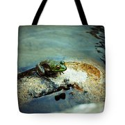 Between A Frog And A Hard Place Tote Bag