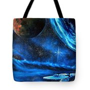 Between Alien Worlds Tote Bag by Murphy Elliott