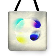 Between Clouds Digital Art Tote Bag