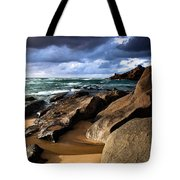 Between Rocks And Water Tote Bag