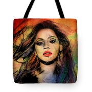 Beyonce Tote Bag by Mark Ashkenazi