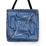 Beyond The Barrier Blues Tote Bag