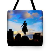 George Washington Statue - Boston Tote Bag by Joann Vitali