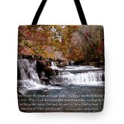 Bible Verse And Inspirational Greeting Card Autumn Fine Art Photography Prints And Posters. Tote Bag