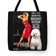 Bichon Frise Art - Una Parigina Movie Poster Tote Bag