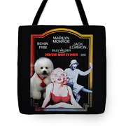 Bichon Frise Art- Some Like It Hot Movie Poster Tote Bag