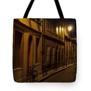 Bicycle And Empty Street Tote Bag